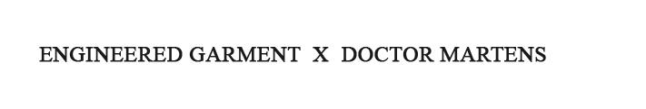 Engineered Garments X Dr Martens