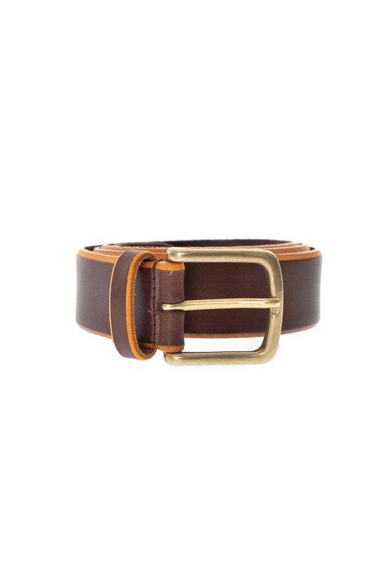 Burnished Leather Belt A/3227 - Brown/Orange