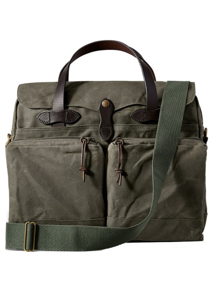 24 Hour Tin Cloth Briefcase - Otter Green