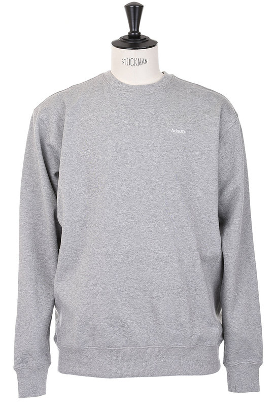 Core Logo Crewneck Sweater - Heather Grey