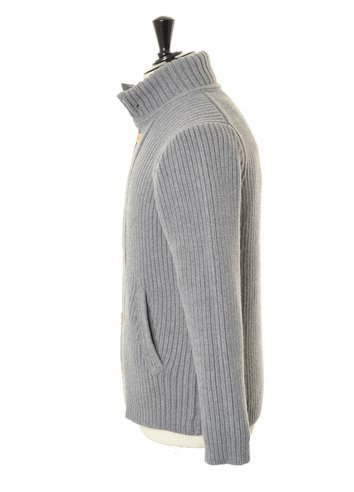 SFM06 Cardigan Button Grey