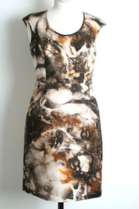 View the Marble Print Dress online at Kafka