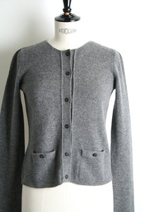 View the Round Neck Cardigan online at Kafka