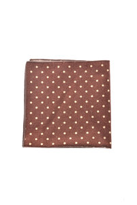 View the Flannel Dots Pocket Square - Red online at Kafka