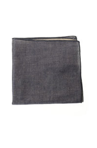 View the Yarn Dyed Gauze Pocket Square - Blue online at Kafka