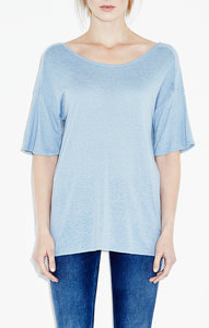 View the The Pretty Sleeve Tee - Blue online at Kafka