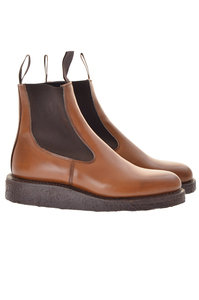 View the Trickers X Dorothy Beechnut Burnished Boots online at Kafka