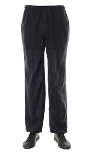 View the Relaxed Trousers - Navy Fleece Light Wool online at Kafka