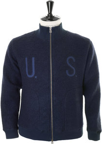 View the BOA Fleece Zip Cardigan - Navy online at Kafka
