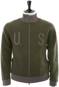 View the BOA Fleece Zip Cardigan - Olive online at Kafka