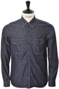 View the Denim Shirt BL006 - Indigo online at Kafka