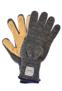 View the Ragg Wool Glove Deer - Dark Melange/Natural online at Kafka