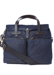 View the 24 Hour Tin Cloth Briefcase - Navy  online at Kafka