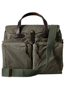 View the 24 Hour Tin Cloth Briefcase - Otter Green  online at Kafka
