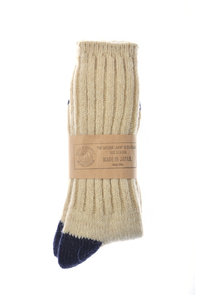 View the Socks - Natural/Navy online at Kafka