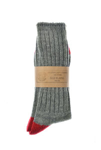 View the Socks - Grey/Red online at Kafka