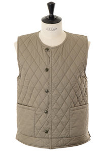 View the Quilting Vest - Khaki online at Kafka