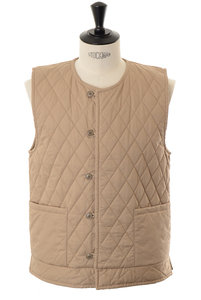 View the Quilting Vest - Beige online at Kafka