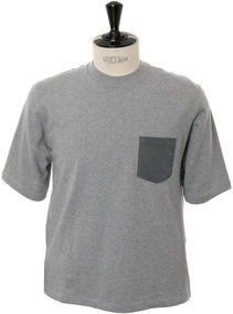 View the Knitted Pocket S/S Tee - Grey online at Kafka