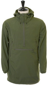 View the Woven Windshed Long Anorak - Olive online at Kafka