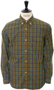 View the Button Down Shirt Dark Check - Green online at Kafka