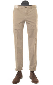 View the Beige Slim Fit Cotton Stretch Trouser 1ST603 90664 online at Kafka