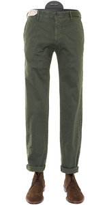 View the Olive Pattern Slim Fit Cotton Stretch Trouser 1ST603 90687 online at Kafka
