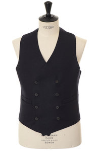 View the Gilet Doppiopetto TV Navy online at Kafka