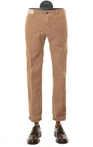 View the Slim Fit Cotton Stretch Trouser TAN 1ST603  40611 online at Kafka