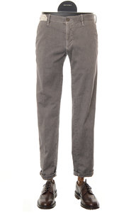 View the Slim Fit Cotton Stretch Twill Trouser GREY 1ST603 40626 online at Kafka