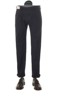 View the Slim Fit Cotton Herringbone Trouser NAVY 1ST694 20038 online at Kafka