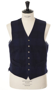 View the Des Vest - Navy online at Kafka