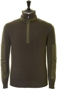 View the Lupetto Knit Zip Sweater - Military online at Kafka