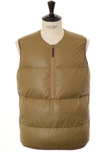 View the Woven Down Zip Vest - Camel online at Kafka