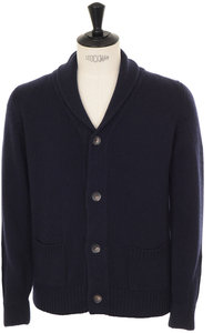 View the Shawl Collar Cardigan - Marine online at Kafka