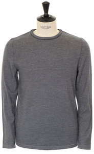 View the Toby Knitted Crew Neck - Marine online at Kafka
