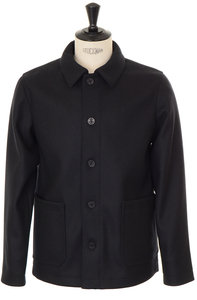 View the Auray Wool Jacket - Black online at Kafka