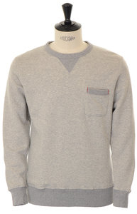 View the Loopwheeler Pocket Sweat - Heather Grey online at Kafka