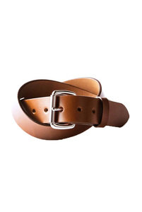 View the Standard Belt - Saddle Tan/Steel online at Kafka