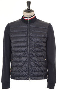 View the Quilted Front Jersey Jacket - Navy online at Kafka