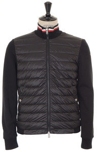 View the Quilted Front Jersey Jacket - Black online at Kafka