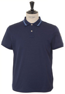 View the Knitted Tipped Polo - Navy online at Kafka