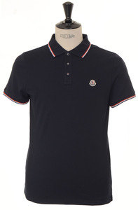 View the Classic Tre Colore Tipped Polo - Navy online at Kafka