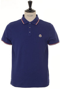 View the Classic Tre Colore Tipped Polo - Blue online at Kafka