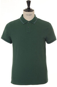 View the Classic Logo Sleeved Polo - Green online at Kafka