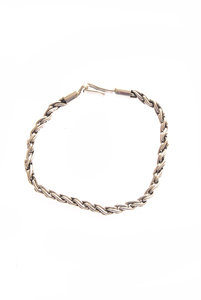 View the Chunky Silver Chain Rope Bracelet online at Kafka
