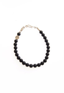 View the Black Matte Onyx Gemstone Bracelet  online at Kafka