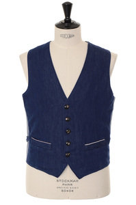 View the Toto-44 Gilet - Blue online at Kafka