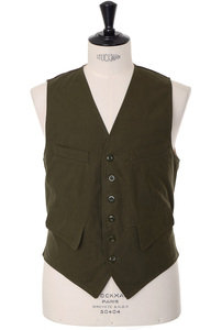 View the Fortela Cotton Gilet - Olive online at Kafka