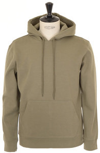 View the Stefan Hoodie - Khaki online at Kafka